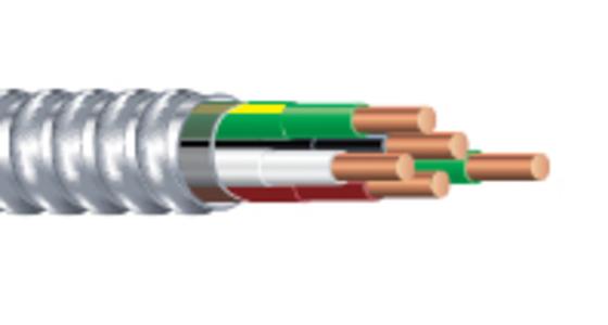 Armorlite™ Feeder Metal Clad Cable with Copper THHN Conductors