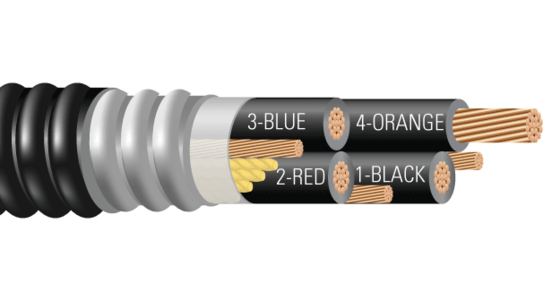 4/C CU 600V XLPE XHHW-2 AIA PVC Power Cable With 50% Ground. Silicone Free