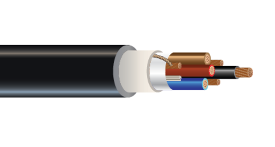 3/C or 4/C 600 or 1000 Volt Cu (FR-XLPE) XHHW-2 CPE Jacket Control Cable Halo-Flex™ Type TC-ER-HL