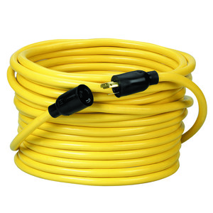 12/3 STW 100' Twist to Lock Extension Cord, Yellow