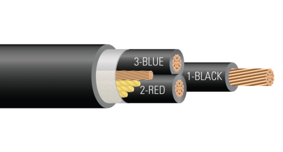 "3/C AL 600V XLPE XHHW-2 AIA PVC Power <em class=""search-results-highlight"">Cable</em> With Ground AT 50%. Silicone Free"