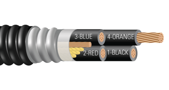 4/C CU 600V XLPE XHHW-2 AIA PVC Power Cable With Ground. Silicone Free
