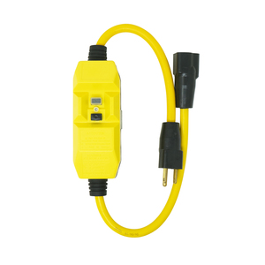 120V/15A In-Line GFCI featuring a 14/3 cord set with a single NEMA 5-15 P&R