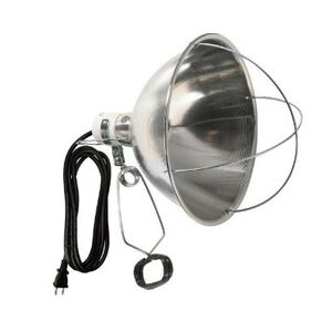 300W Brooder Clamp Light with 8ft 18/2 Cord, Hanging Hook, and Heavy Duty Clamp