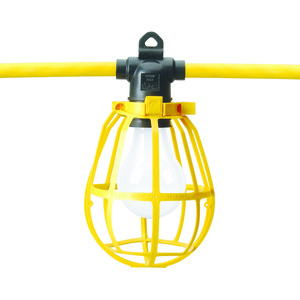 50' - 12/3, Heavy Duty String Light with Plastic Cage