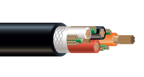 4/C CU 2000V EPDM/CPE Type G Industrial Grade Cable 90°C