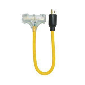 12/3 STW 2' L5-20P/5-15R Generator Cord