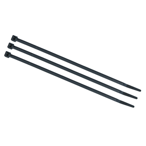"7"" UV Rated Indoor/Outdoor Nylon Cable Ties, 50 Pound Tensile Strength, 1000 Count, Black"