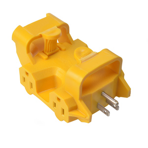 5 Outlet Adapter, Yellow