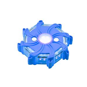 Blue Single Pulsar-Emergency Rechargeable LED Hazard Light, IP65