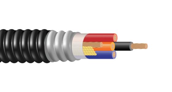 2/C 3/C or 4/C CU 600V XLPE XHHW-2 Aluminum Interlocked Armor PVC Control Cable With Ground