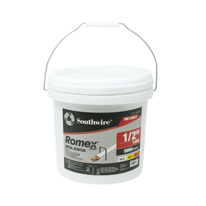 "1/2"" Romex™ Brand Metal Staples, 5000 PCS"