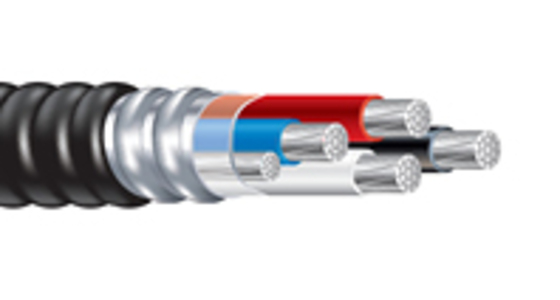 """PVC Jacketed Alumaflex™ Feeder Metal Clad Cable with Aluminum <em class=""""search-results-highlight"""">THHN</em> Conductors"""