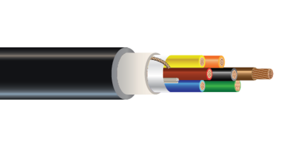 Multi-Conductor 600 or 1000 Volt Cu XLPE XHHW-2 CPE Control Cable Halo-Flex™ Type TC-ER-HL