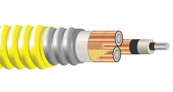 3/C AL 5kV 115 NLEPR 133% AIA PVC MV-105
