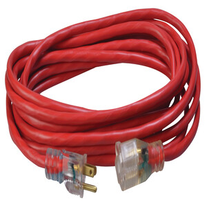 14/3 Heavy-Duty 15-Amp SJTW General Purpose Extension Cord with Lighted End, 25