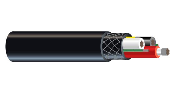 3/C CU 2000V Type G-GC RHINOFLEX™ CPE Mining Cable 90°C