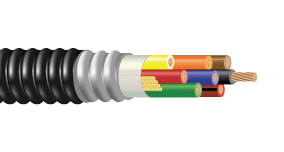 CU 600V XLPE XHHW-2 ARMOR-X PVC Control Cable With Ground