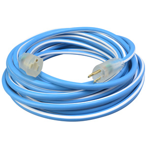 Polar/Solar Supreme 1637SW0061 12/3 Heavy-Duty 15-Amp SJEOW Cold Weather Extension Cord with Lighted End, 25-Feet