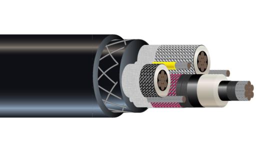 3/C CU 15KV Type SHD-GC RHINOSHIELD™ CPE Mining Cable 90°C