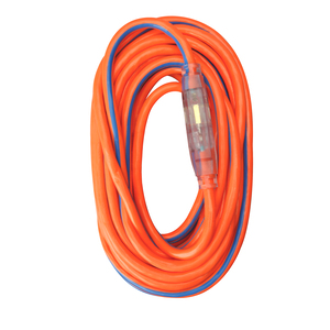 12/3 Heavy-Duty 15-Amp SJTW High Visibility General Purpose Extension Cord with Lighted End, 50