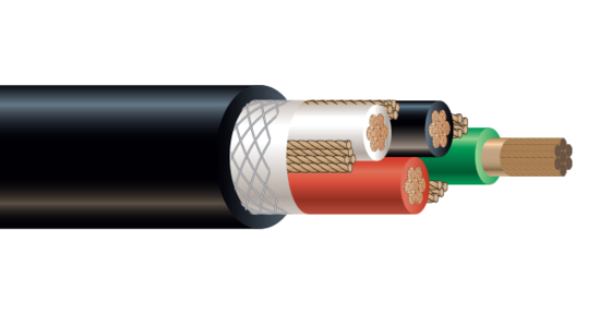 4/C CU 2000V EPDM/CPE Type W Industrial Grade Cable 90°C