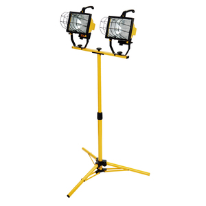 L13SW 1000-Watt Halogen Telescoping Twin Head Tripod Work Light