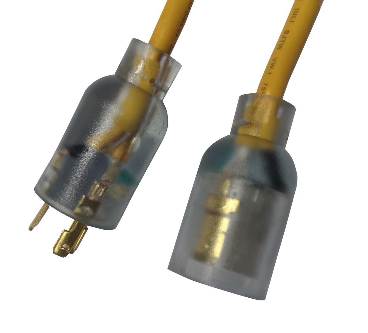 12/3 Heavy Duty 15 Amp SJTW Twist-To-Lock Extension Cord, 100