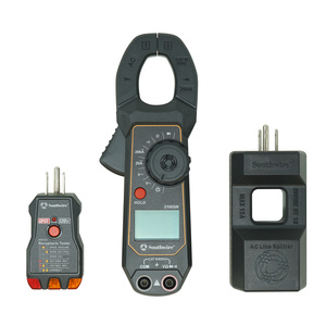 Clamp Meter Kit consisting of 200A AC clamp meter, AC Line Splitter, and 120V AC GFCI Receptacle Tester