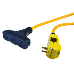 Right Angle GFCI Cordset with Tri-Source