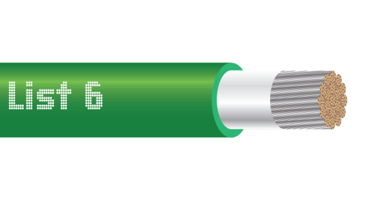 TELCOFLEX®-G L6 Telecom Grounding Cable, Green