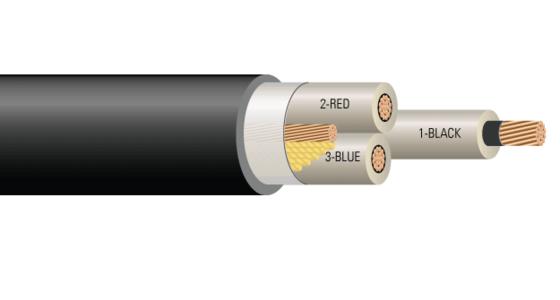 3/C CU 2.4kV 90 Mils NLEPR PVC MV-105