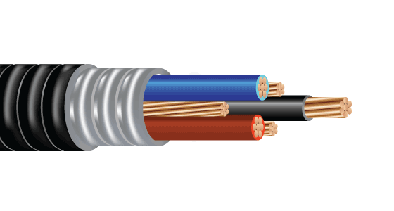 2/C 3/C or 4/C CU 600V XLPE XHHW-2 Aluminum Interlocked Armor PVC Control Cable With Ground