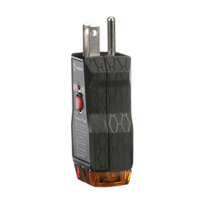 120V AC Receptacle Tester with Push-Button GFCI Test