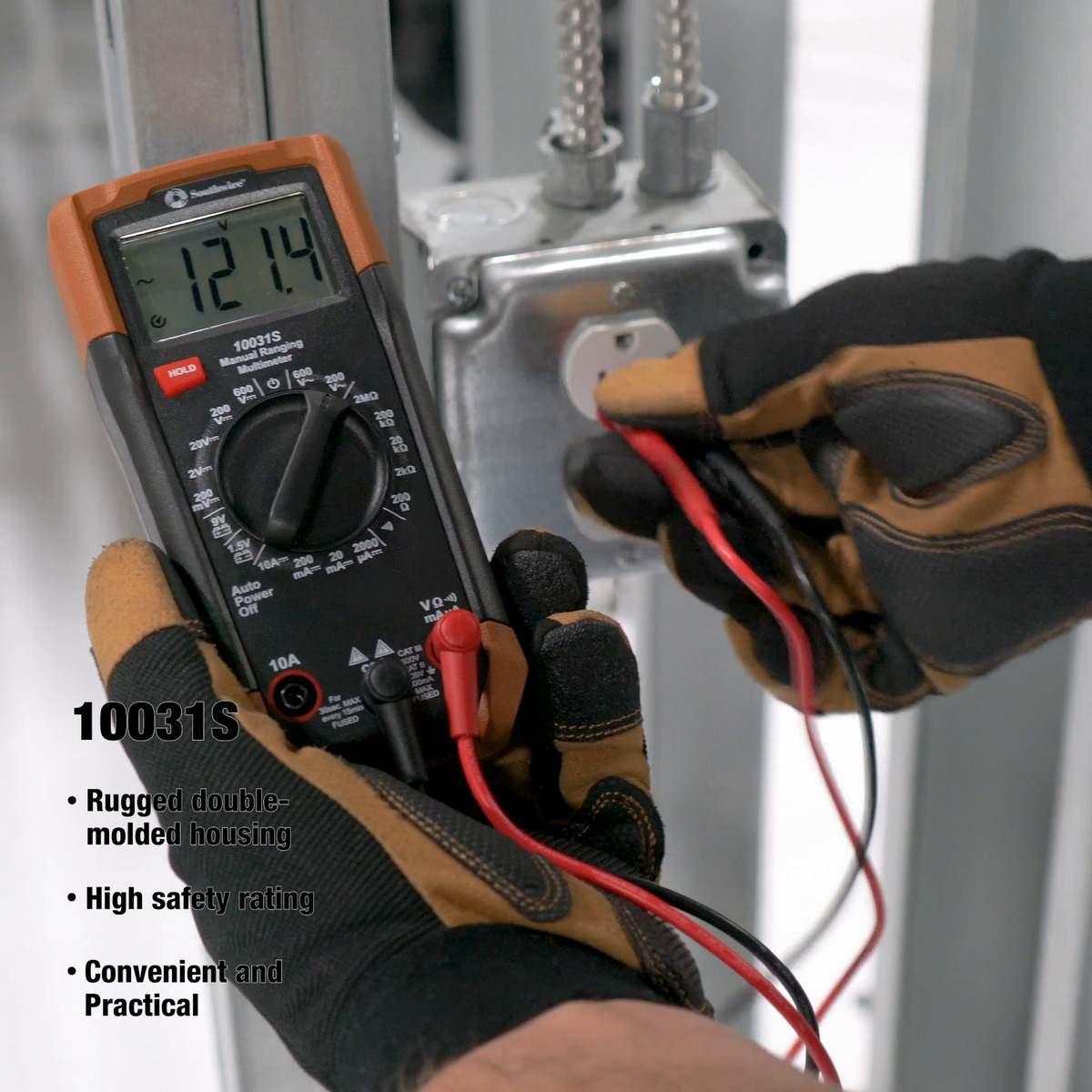 600V 7-Function Manual-Ranging Multimeter