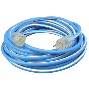 Polar/Solar Supreme 1437SW0061 14/3 Heavy-Duty 15-Amp SJEOW Cold Weather Extension Cord with Lighted End, 25-Feet