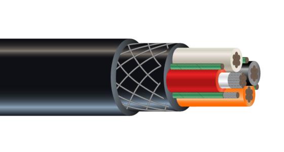 4/C CU 2000V Type G RHINOFLEX™ CPE Mining Cable 90°C