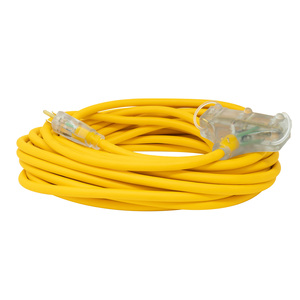 Polar/Solar 3488SW0002 12/3 Heavy-Duty 15-Amp SJEOOW Cold Weather 3-Outlet Extension Cord, 50-Feet