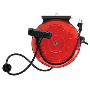 Retractable Reel Cord 48006 3 Outlet 3 Outlet, 30 Feet