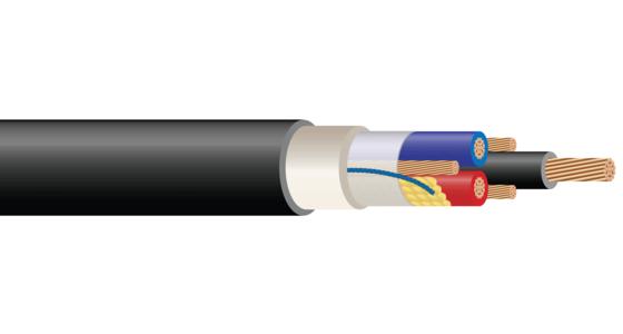 3/C or 4/C 600 or 1000 Volt Cu (FR-XLPE) XHHW-2 CPE Jacket Control Cable Halo-Flex™ Type TC-ER-HL