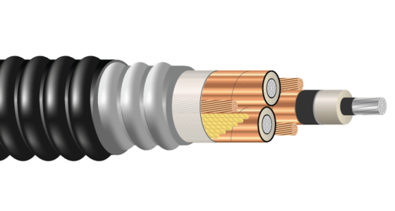 3/C AL 15kV 220 NLEPR 133% AIA PVC MV-105. 50% Ground. Silicone Free