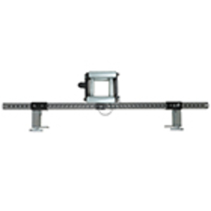 "Extended Outside Vertical Riser and Straight Section Roller w/ 48"" Crossbar and Clamps"