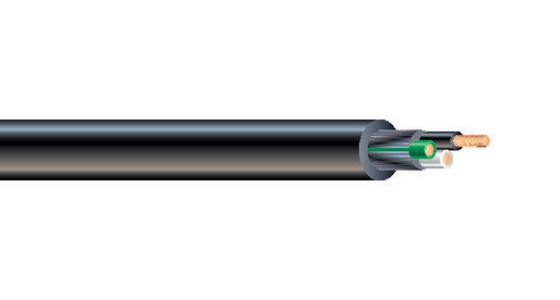 600V SEOPRENE® SEOOW Cord with Black Jacket 105°C