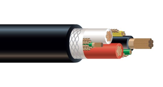 3/C CU 2000V EPDM/CPE Type G-GC Industrial Grade Cable 90°C